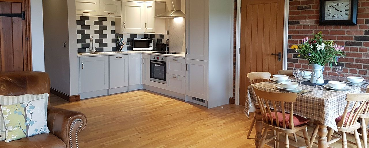 Accessible holiday cottage with low thresholds and no steps in Beech Cottage