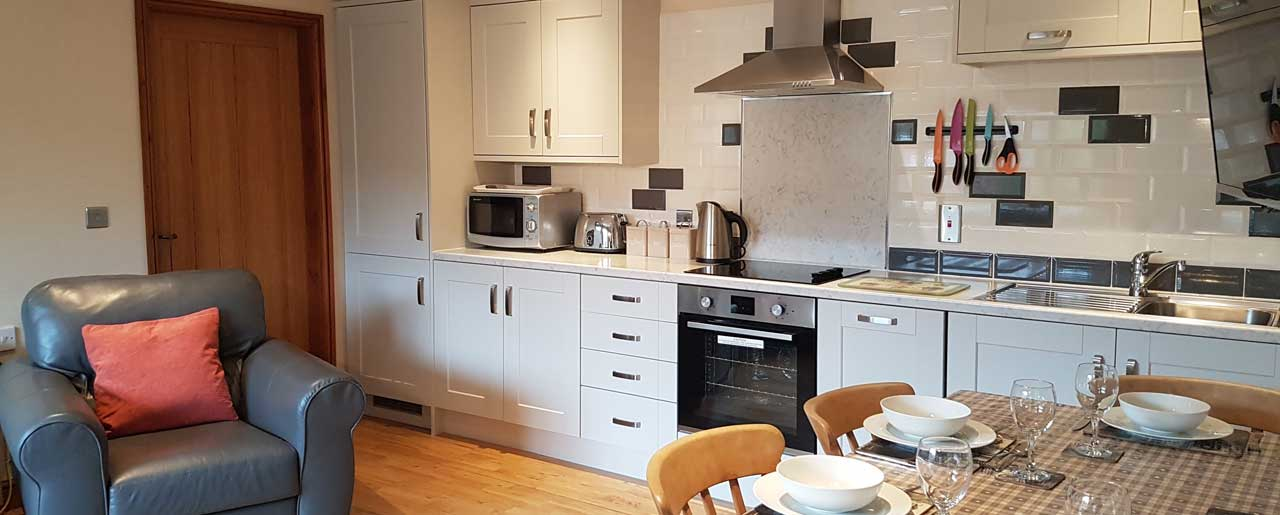 The kitchen is very well equiped and can cater for a large family cottage holiday